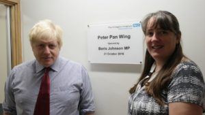Boris Johnson MP and Matron Chris Mann