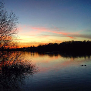 Ruislip Lido at Sunset